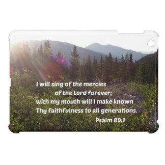 Psalm-89:1 singe ich von den Gnaden des Lords iPad Mini Hülle