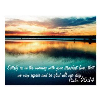 Psalm-90:14 Postkarte