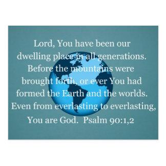 Psalm-90:1,2 Postkarte