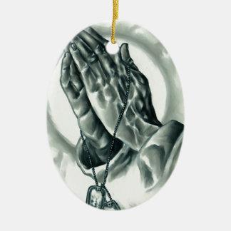 Psalm 91 ovales keramik ornament