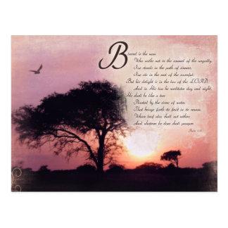 Psalm-Ermutigungs-inspirierend Bibel-Vers Postkarten