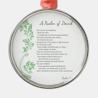 Psalm von David der Lord ist mein Silbernes Ornament