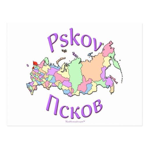 Pskov Russland Postkarte