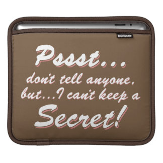 Pssst… kann ich ein GEHEIMES nicht behalten Sleeve Für iPads