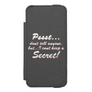 Pssst… kann ich ein GEHEIMES nicht behalten (weiß) Incipio Watson™ iPhone 5 Geldbörsen Hülle