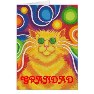 "Psy-Katze-delic ""Grandad"" Geburtstagskarte Karte"