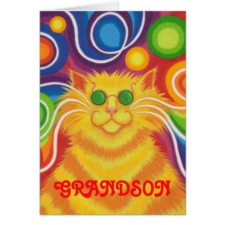 """Psy-Katze-delic Karte """"des starken Geburtstages"""""""