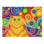 Psy-Katze-delic Postkarte