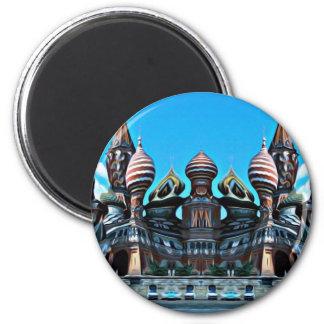Psycgedelic Moskau Runder Magnet 5,7 Cm