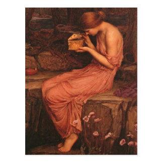 Psyche und goldener Kasten Postkarte