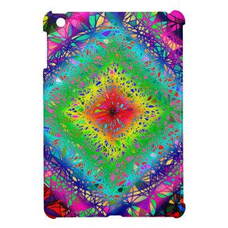 Psychedeli Farben und Kristall iPad Mini Hülle
