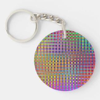 Psychedelia rundes Keychain (doppelseitig) Schlüsselanhänger