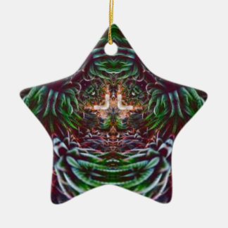 Psychedelisch in die Pflanze Keramik Ornament