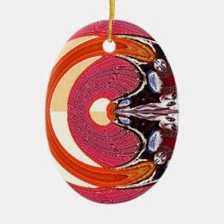 Psychedelisch Ovales Keramik Ornament