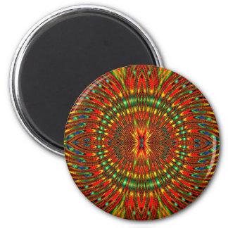 Psychedelisch Runder Magnet 5,1 Cm