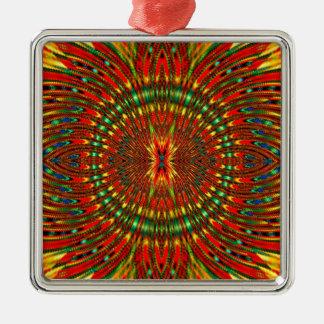 Psychedelisch Silbernes Ornament