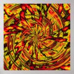 psychedelische abstrakte Kunst Posterdrucke