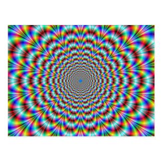 Psychedelische Augen-Bieger-Postkarte