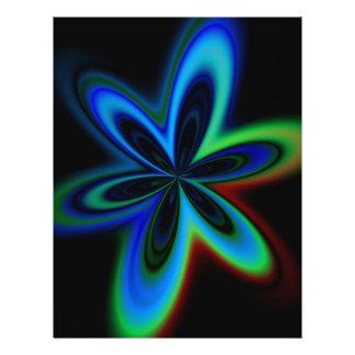 Psychedelische Blume Flyerdruck