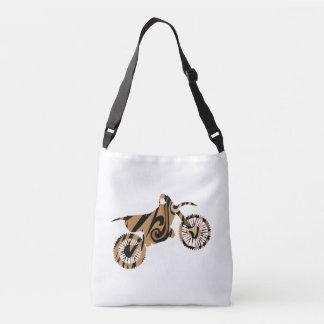 Psychedelische Brown-Schmutz-Fahrrad-Tasche Tragetaschen Mit Langen Trägern