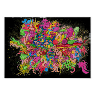 Psychedelische Explosion Poster