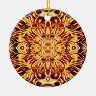 Psychedelische Farbe Keramik Ornament