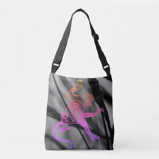 Psychedelische Feuer-Mandala-Affe-Tasche Tragetaschen Mit Langen Trägern