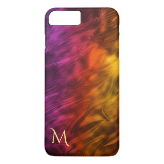 Psychedelische Feuer-Monogramm iPhone 7 Plusfall iPhone 8 Plus/7 Plus Hülle