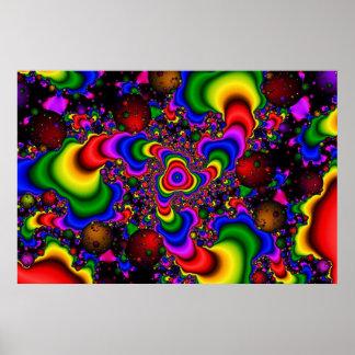Psychedelische Galaxie Plakatdrucke