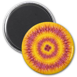 Psychedelische gefärbte Krawatte Vintag Runder Magnet 5,7 Cm