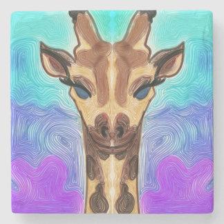 Psychedelische Giraffe Steinuntersetzer