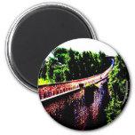 psychedelische Girona-Brückenwand, Spanien Magnets