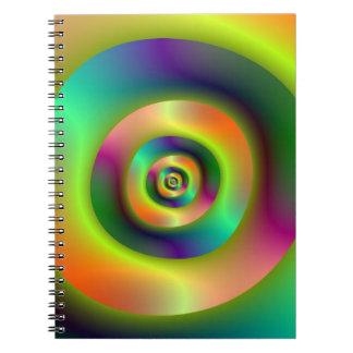 Psychedelische innere äußere Ringe Spiral Notizblock