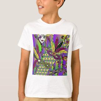 Psychedelische Karneval-Feder-Masken T-Shirt