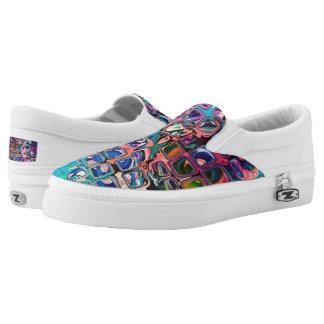 Psychedelische kleine bunte Würfel Slip-On Sneaker