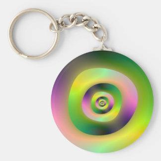 Psychedelische Krapfen Keychain Schlüsselanhänger
