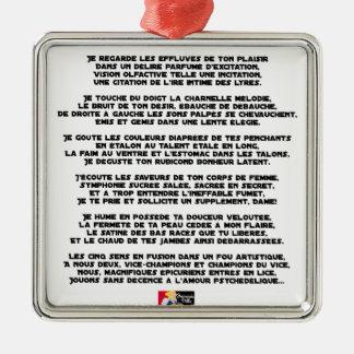 Psychedelische Liebe - Wortspiele - Francois Ville Silbernes Ornament