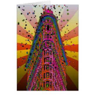 Psychedelische NYC - Spitze des Flatiron Gebäude Karte