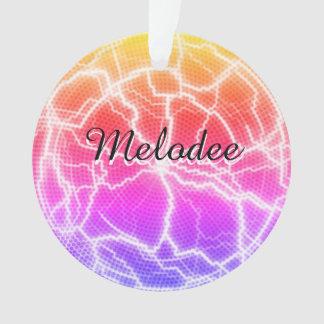 Psychedelische personalisierte Verzierung Ornament
