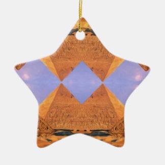 Psychedelische Pyramiden Keramik Ornament