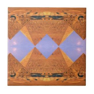Psychedelische Pyramiden Keramikfliese