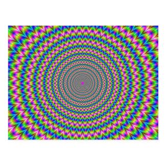 Psychedelische Ring-Postkarte