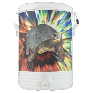 Psychedelische Schildkröte Igloo Getränke Kühlbox