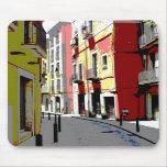 psychedelische Spanien-Straßenphotographie Mousepads