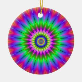 Psychedelische Supernova-Verzierung Keramik Ornament