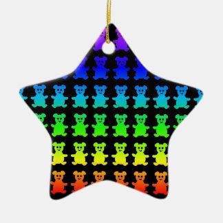 Psychedelische Teddybärbären Keramik Ornament