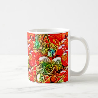 Psychedelische Tomate-Tasse Kaffeetasse