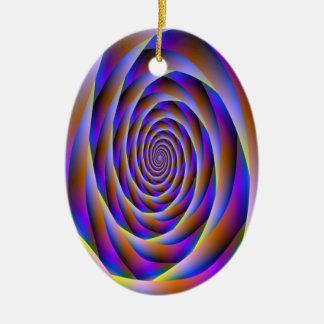 Psychedelische Turbulenz-Verzierung Keramik Ornament
