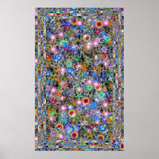 Psychedelische Überdosis Posterdruck