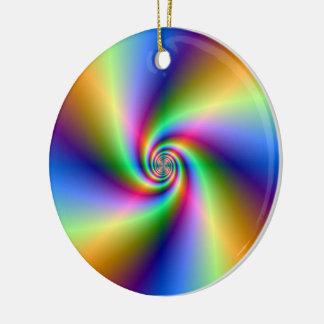 Psychedelische vier Wind-gewundene Verzierung Keramik Ornament